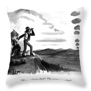 We Must Hurry Back!  The Casino Is On Fire! Throw Pillow