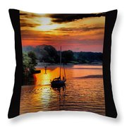 We Sail At Sunrise Throw Pillow