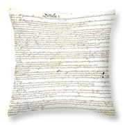 We The People Constitution Page 1 Throw Pillow