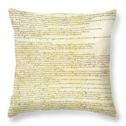 We The People Constitution Page 2 Throw Pillow