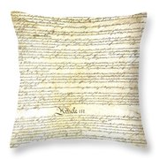 We The People Constitution Page 3 Throw Pillow