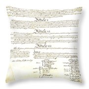 We The People Constitution Page 4 Throw Pillow