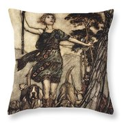 We Will, Fair Queen Throw Pillow