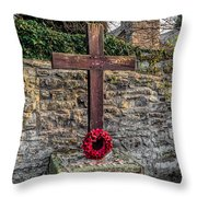 We Will Remember Throw Pillow by Adrian Evans