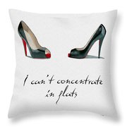Wear The Right Shoes Throw Pillow