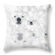 Weather Forcast - Snow - Featured In Cards For All Occasions Group Throw Pillow