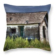 Weathered And Worn Well  Throw Pillow by Saija  Lehtonen