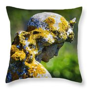 Weathered Angel Throw Pillow