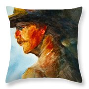 Weathered Cowboy Throw Pillow