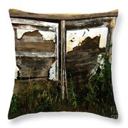 Weathered In Weeds Throw Pillow