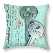 Weathered Love Throw Pillow