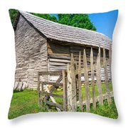 Weathered Old Country Barn Throw Pillow