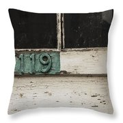 Weathered Old Door Throw Pillow