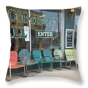 Weathered Old Lawn Chairs Throw Pillow