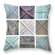 Weathered Paint Throw Pillow