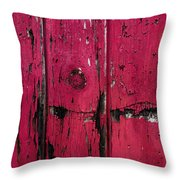 Weathered Red Throw Pillow