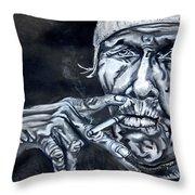 Weathered Sailor Throw Pillow