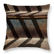 Weathered Stairs Throw Pillow