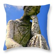 Weathered Woman Throw Pillow