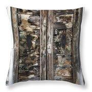 Weathered Wood Door Venice Italy Throw Pillow
