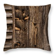 Weathered Wooden Abstracts - 3 Throw Pillow