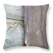 Weathered Wooden Boards Throw Pillow