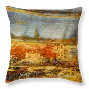 Weathered Wooden Boat - Abstract Throw Pillow