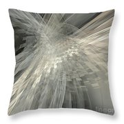 Weaving White And Gray Throw Pillow