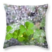 Web And Clover Throw Pillow