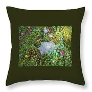 Web In Moss Throw Pillow