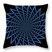 Web Mandala Throw Pillow