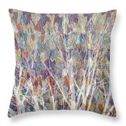 Web Of Branches Throw Pillow