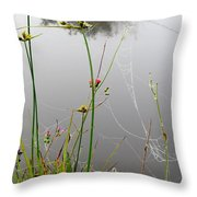Web Of Pearls Throw Pillow