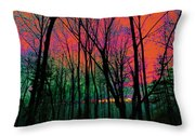 Webbs Woods Sunset Throw Pillow