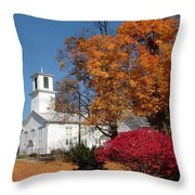 Webster Church On A Fall Day Throw Pillow