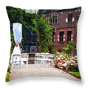 Wedding Arrangement In De Haar Castle. Utrecht  Throw Pillow by Jenny Rainbow