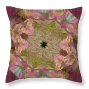 Wedding Bell Pink Daisies Throw Pillow