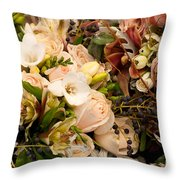 Wedding Bouquets 01 Throw Pillow