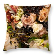 Wedding Bouquets 02 Throw Pillow
