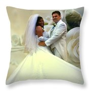 Wedding Flower Throw Pillow