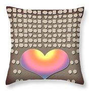 Wedding Guest Signature Book Heart Bubble Speech Shapes Throw Pillow