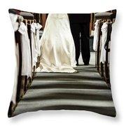 Wedding In Church Throw Pillow