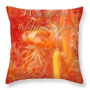 Wedding Joy Greeting Card - Turks Cap Lilies Throw Pillow