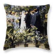 Wedding Party, 1897 Throw Pillow