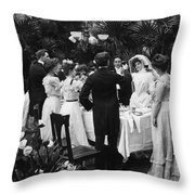 Wedding Party, 1904 Throw Pillow