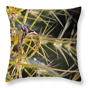 Wedding Ring On A Spine 1 Throw Pillow