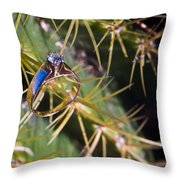 Wedding Ring On A Spine 2 Throw Pillow