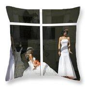 Wedding Shop In Tbilisi Throw Pillow
