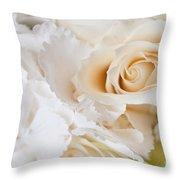 Wedding White Flowers Throw Pillow