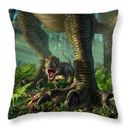 Wee Rex Throw Pillow by Jerry LoFaro